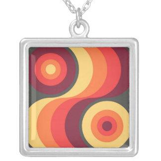 El arco iris ondulado abstracto retro ajusta arte colgante cuadrado