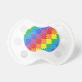 El arco iris ondulado ajusta el pacificador chupetes para bebes