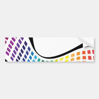 El arco iris ondulado ajusta la disposición abstra etiqueta de parachoque