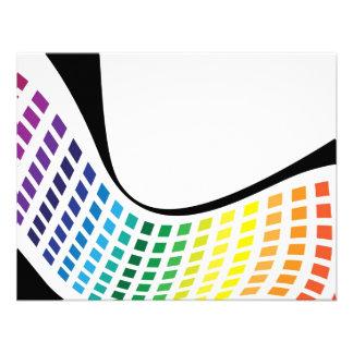 El arco iris ondulado ajusta la disposición abstra anuncio