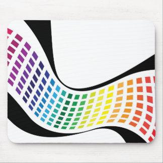 El arco iris ondulado ajusta la disposición abstra alfombrillas de ratón