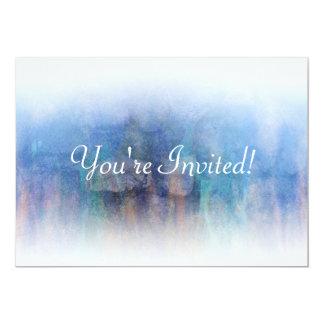 El arco iris oscila la invitación de encargo azul invitación 12,7 x 17,8 cm