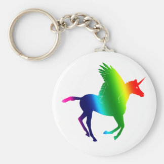 El arco iris Pegacorn Llavero Personalizado