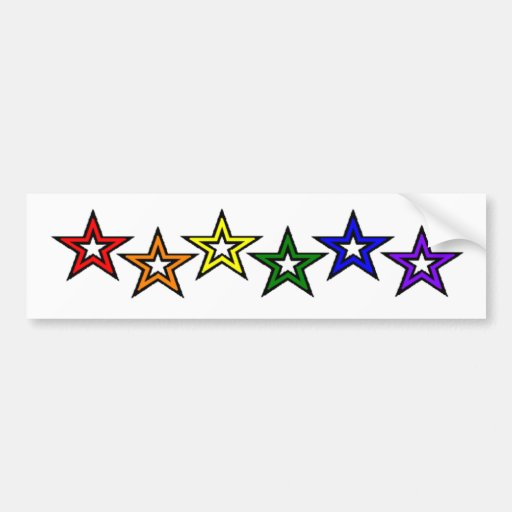 El arco iris protagoniza orgullo gay pegatina para auto