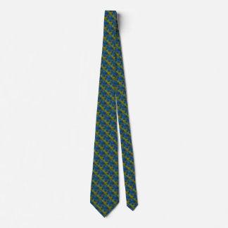 El arco iris psico protagoniza en el verde azul corbata personalizada