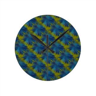 El arco iris psico protagoniza en el verde azul reloj redondo mediano