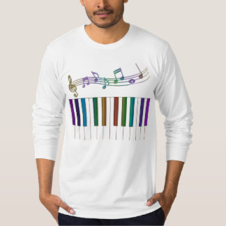 El arco iris psicodélico cierra la camiseta de la poleras
