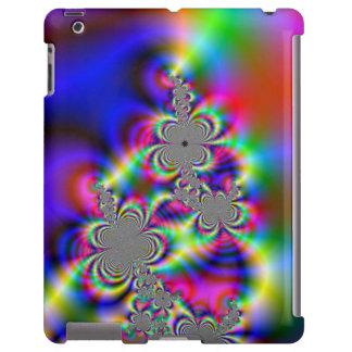 El arco iris psicodélico florece la caja del iPad Funda Para iPad