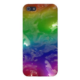 El arco iris psicodélico gelatinado exuda iPhone 5 fundas