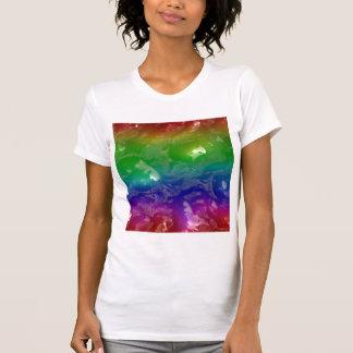 El arco iris psicodélico gelatinado exuda playeras