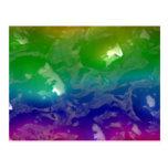 El arco iris psicodélico gelatinado exuda tarjetas postales