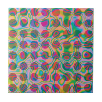 El arco iris psicodélico mancha el modelo azulejo cuadrado pequeño
