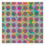 El arco iris psicodélico mancha el modelo impresion fotografica