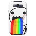 El arco iris Puke la cara cómica Galaxy SIII Cárcasas
