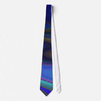 El arco iris pulido de aceite se descolora corbata personalizada