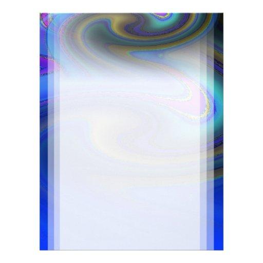 El arco iris pulido de aceite se descolora membrete