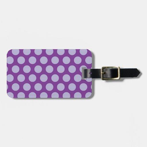El arco iris puntea la colección - púrpura 1 etiquetas para equipaje
