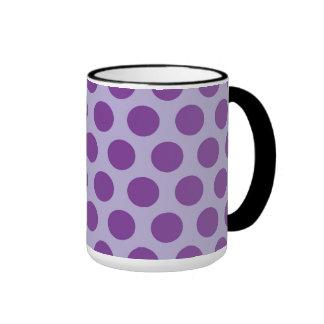 El arco iris puntea la colección - púrpura 2 tazas