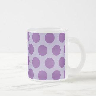 El arco iris puntea la colección - púrpura 2 tazas de café