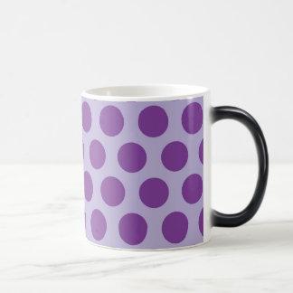 El arco iris puntea la colección - púrpura 2 taza de café