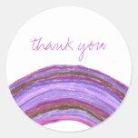 El arco iris púrpura le agradece pegatina