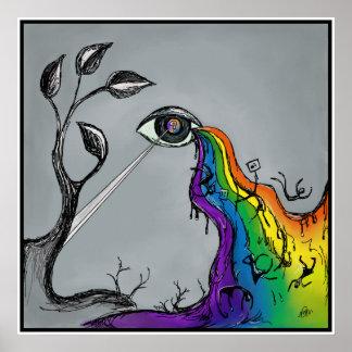 El arco iris rasga el poster