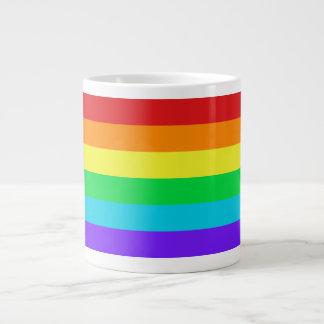 El arco iris raya 1 taza enorme taza grande