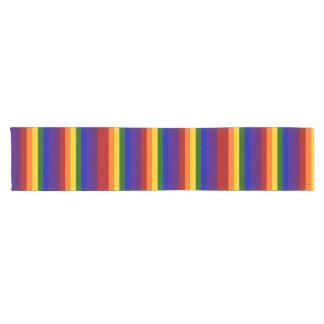 El arco iris raya el corredor de la tabla camino de mesa corto