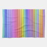 El arco iris raya el fondo toalla de cocina