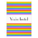 El arco iris raya el modelo anuncio personalizado