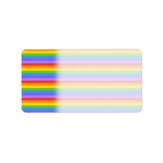 El arco iris raya el modelo etiqueta de dirección