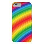 El arco iris raya el modelo funda de iPhone 6 barely there