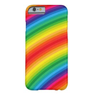 El arco iris raya el modelo funda para iPhone 6 barely there
