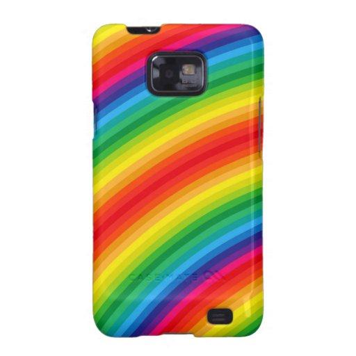 El arco iris raya el modelo galaxy SII funda