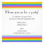 El arco iris raya el modelo invitacion personal