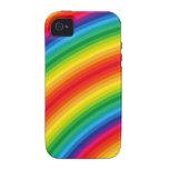 El arco iris raya el modelo iPhone 4/4S funda