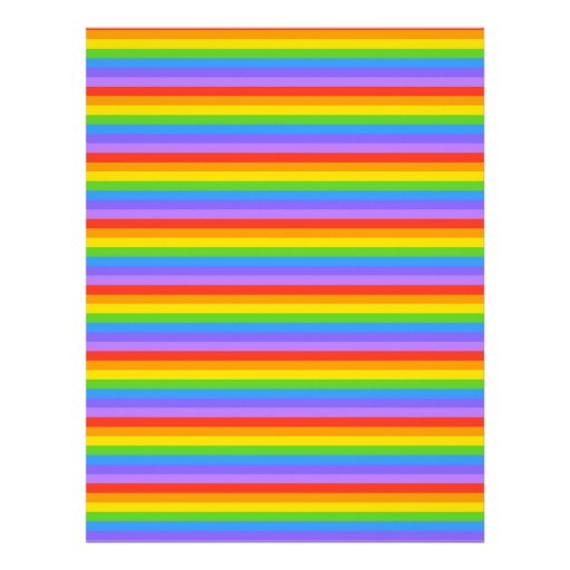 El arco iris raya el modelo membrete