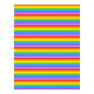 El arco iris raya el modelo membrete a diseño