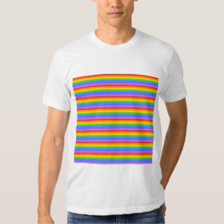 El arco iris raya el modelo remeras