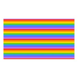 El arco iris raya el modelo tarjetas de visita
