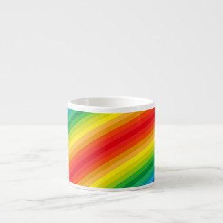 El arco iris raya el modelo taza espresso