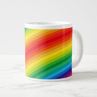 El arco iris raya el modelo taza grande