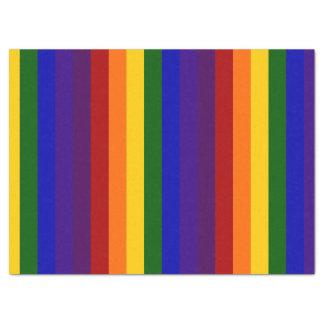 El arco iris raya el papel seda papel de seda grande