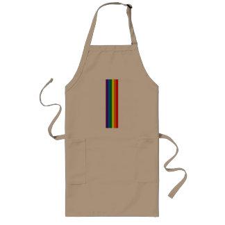 El arco iris raya la ayuda del orgullo gay LGBT Delantal Largo