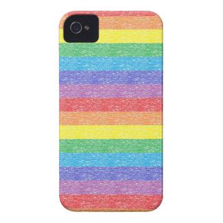 El arco iris raya la caja del iPhone Case-Mate iPhone 4 Protectores