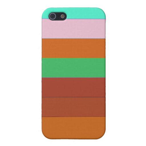 El arco iris raya la caja del iPhone iPhone 5 Fundas