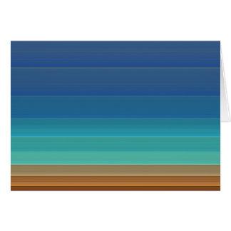 El arco iris raya la tarjeta de nota