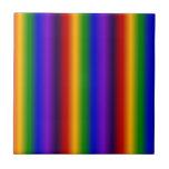 El arco iris raya los regalos coloridos de la falt azulejo ceramica