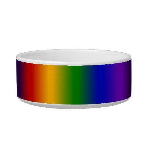 El arco iris raya los regalos coloridos de la falt tazones para gatos