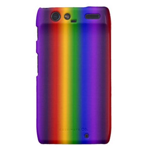 El arco iris raya los regalos coloridos de la falt motorola droid RAZR funda